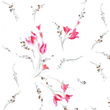 22961 | Subtelny pastelowy wzór kwiatowy