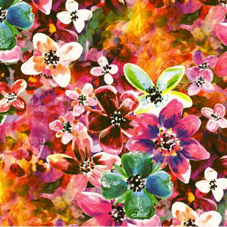 22968 | Wielobarwny wzór kwiatowy