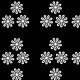 Fabric 22976 | Białe kwiatki
