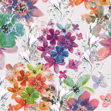Fabric 22982 | Kwiatowy wzór dekoracyjny -seria 1