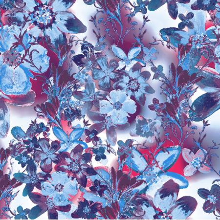 Tkanina 22983 | Kwiatowy wzór dekoracyjny - seria 2