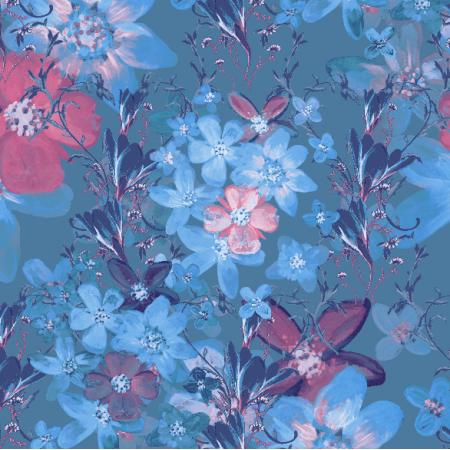 22984 | Kwiatowy wzór dekoracyjny - seria 3