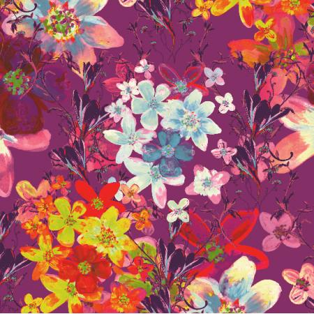 Fabric 22985 | Kwiatowy wzór dekoracyjny - seria 4