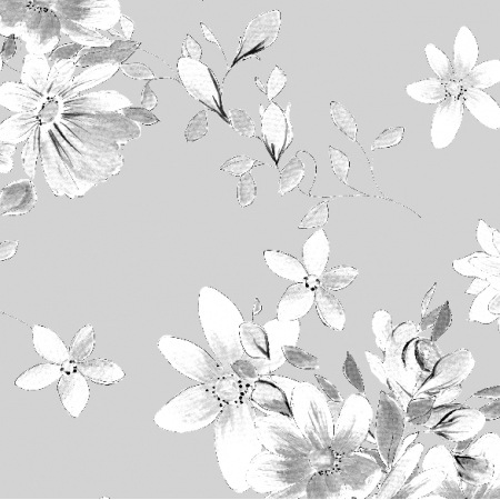 Fabric 22992 | Kwiatowa kompozycja w odcieniach szarości