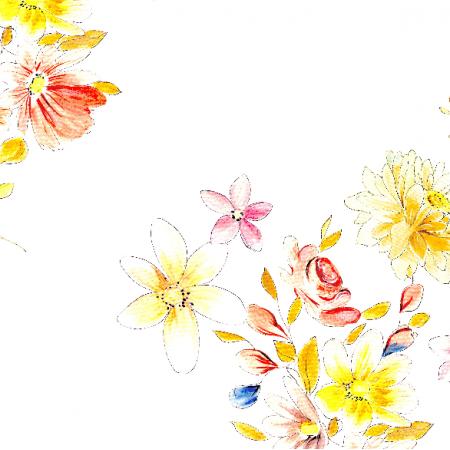 Fabric 22993 | Kwiatowy wzór jak z dawnych lat