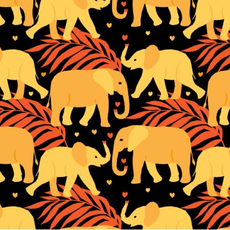 Fabric 23053 | elephants
