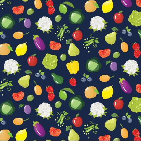 Tkanina 2461 | Fruits and vegetables