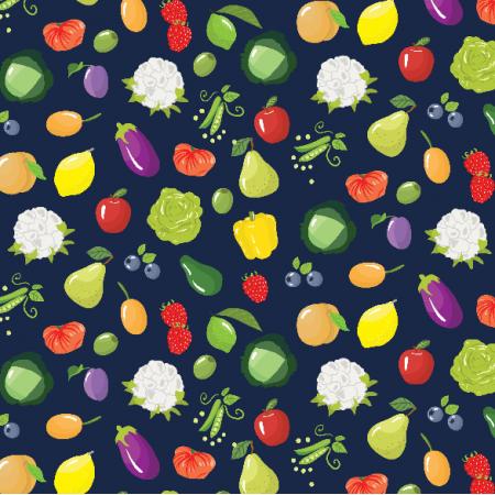 Fabric 2461 | Fruits and vegetables