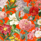 Fabric 23098   OGRÓD BOTANICZNY - FLAME RED 0