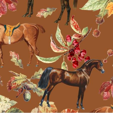 Fabric 23194 | JESIENNE KONIE NA SUGAR ALMOND 0