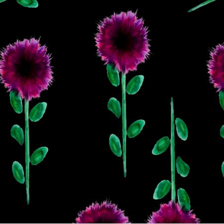 Fabric 23197 | kwiaty-akwarela