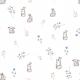Fabric 23438 | Słodkie króliczki z kwiatami