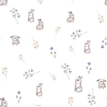 23438 | Słodkie króliczki z kwiatami