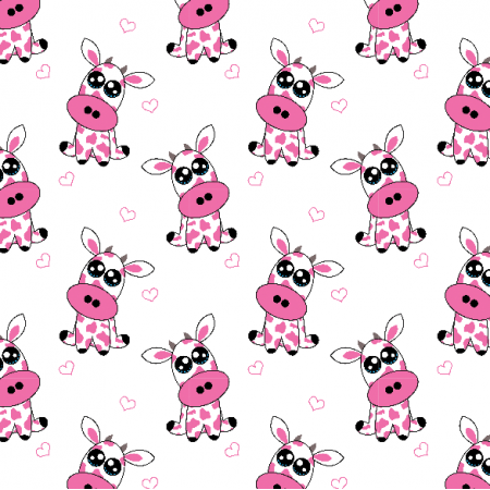 23479 | Strawberry cow -  White and pink