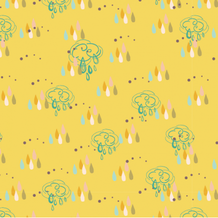 1862   Rainy dots and clouds