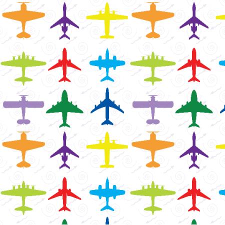 Tkanina 23500 | Samoloty biele