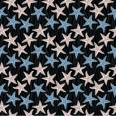 Fabric 23540 | starfishes