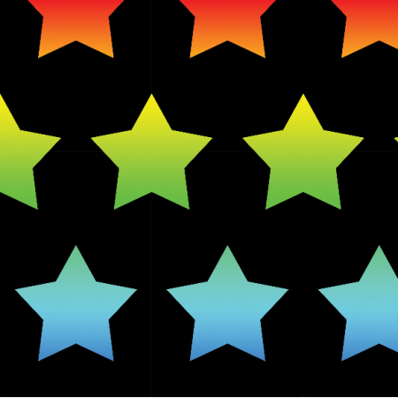 Fabric 23660 | Rainbow stars xl