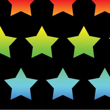 Tkanina 23660 | Rainbow stars xl