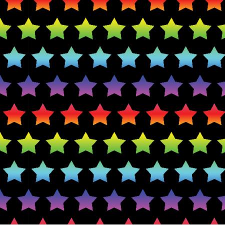 Fabric 23661 | Rainbow stars small