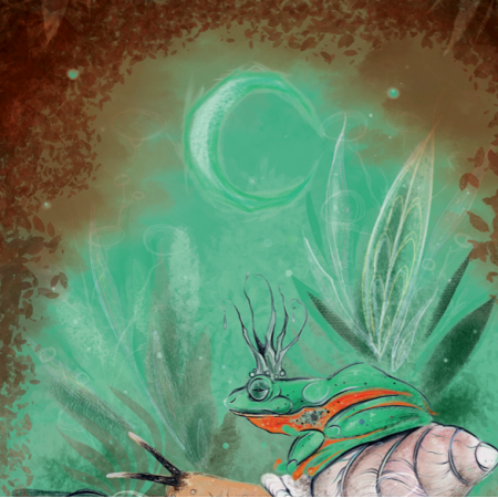 Fabric 23685 | żabi król