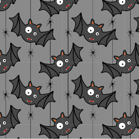 Fabric 23720 | Bats & spiders