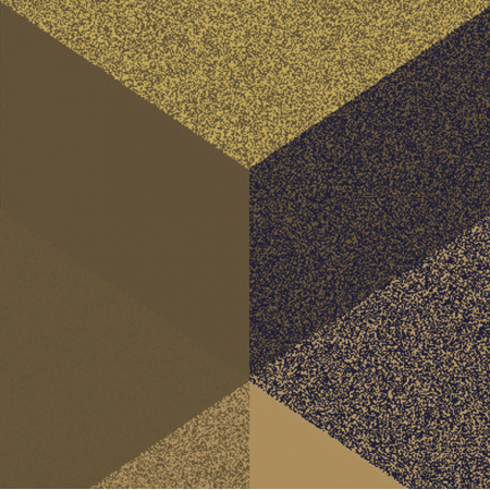 Tkanina 2541 | CUBE 1 GOLD & BLACK