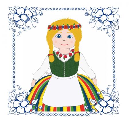 Fabric 24008 | Ludowe dziewczę