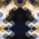 Tkanina 2541 | CUBE 1 GOLD & BLACK