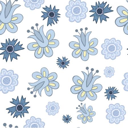 Fabric 24010 | Kwiaty kaszubskie