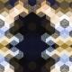 Fabric 2541 | CUBE 1 GOLD & BLACK