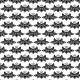 Fabric 24077 | ORNAMENTALNY WZÓR CZARNE KWIATY NA BIAŁYM TLE
