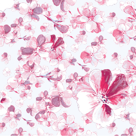 Fabric 24109 | delicate pink flowers