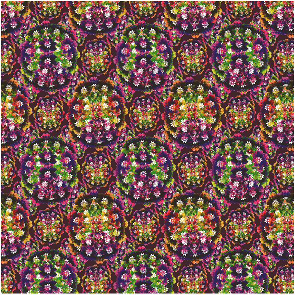 Fabric 24110 | multicolored floral pattern