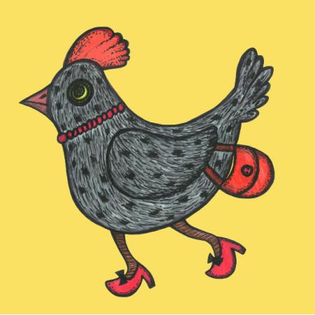 Tkanina 24158 | Kurki żółte