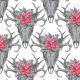 Tkanina 24177   Boho red/ black xl