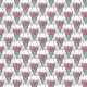 Tkanina 24177 | Boho red/ black xl
