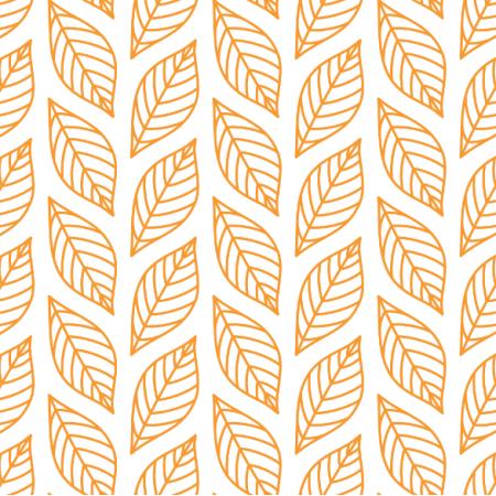 Tkanina 24191 | Obrysy jesiennych liści na białym tle