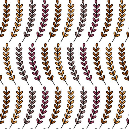 Tkanina 24194 | Jesienne gałązki z jesiennymi liśćmi na białym tle