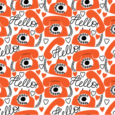 Fabric 24262 | Ring ring telephone