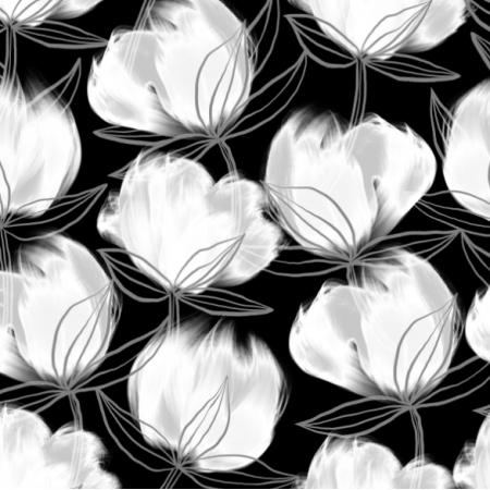 Tkanina 24271 | COTton flowers