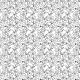 Fabric 24367 | CZARNE Kwiaty kosmos na białym tle