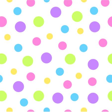 Fabric 24373   Kolorowe kropki na białym tle