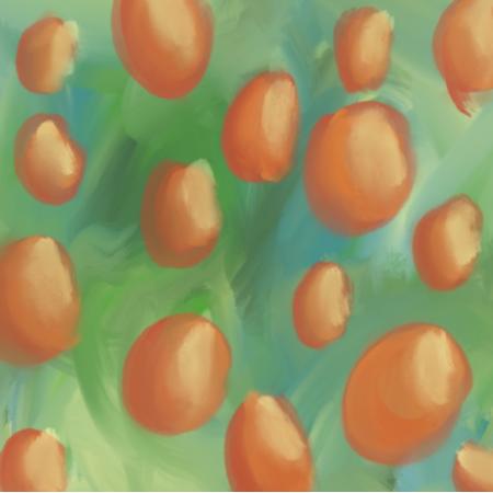 Fabric 24416 | oranges