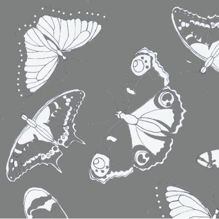 Fabric 24495 | białe motyle