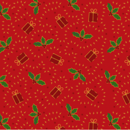 Fabric 24513 | Holly and gift
