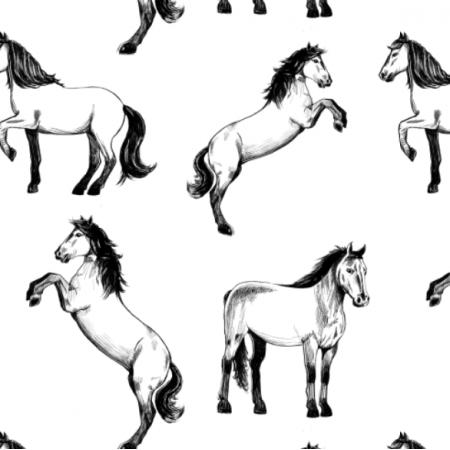 Fabric 24585   Cavallo bianco