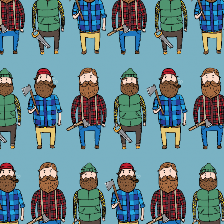 Fabric 2608 | Lumberjacks