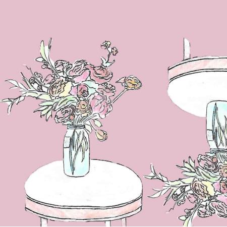 24687 | bouquet of flowers-purple