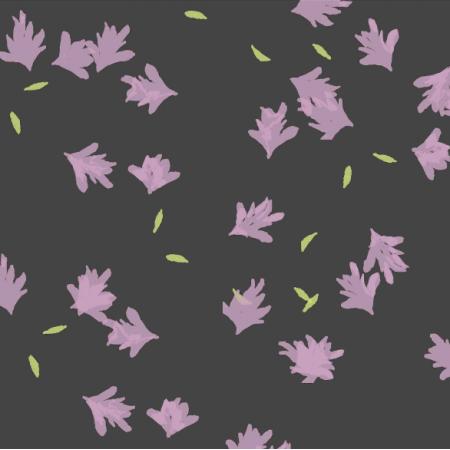 Fabric 24688 | lawenda- szara